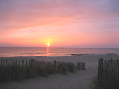 Rehoboth Beach Sunrise.  Photo Credit: www.Beach-Fun.com