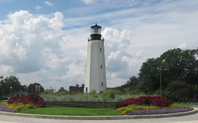 Rehoboth Beach, Lighthouse Circle.  Photo Credit: www.Beach-Fun.com.