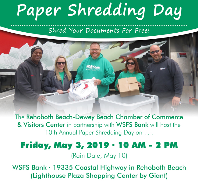 Paper Shredding Day - Rehoboth Beach Resort Area