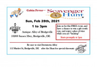 Antique Alley of Bridgeville - Cabin Fever Scavenger Hunt