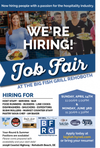 Big Fish Restaurant Group Job Fair