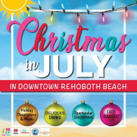 Christmas in July in Downtown Rehoboth Beach