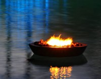 Floating Fire Pit with Smores!