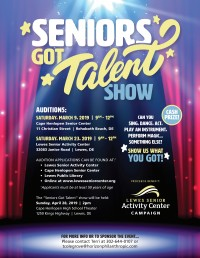 Seniors Got Talent Show Auditions