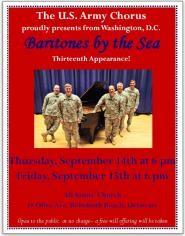 The U.S. Army Chorus Baritones Concert