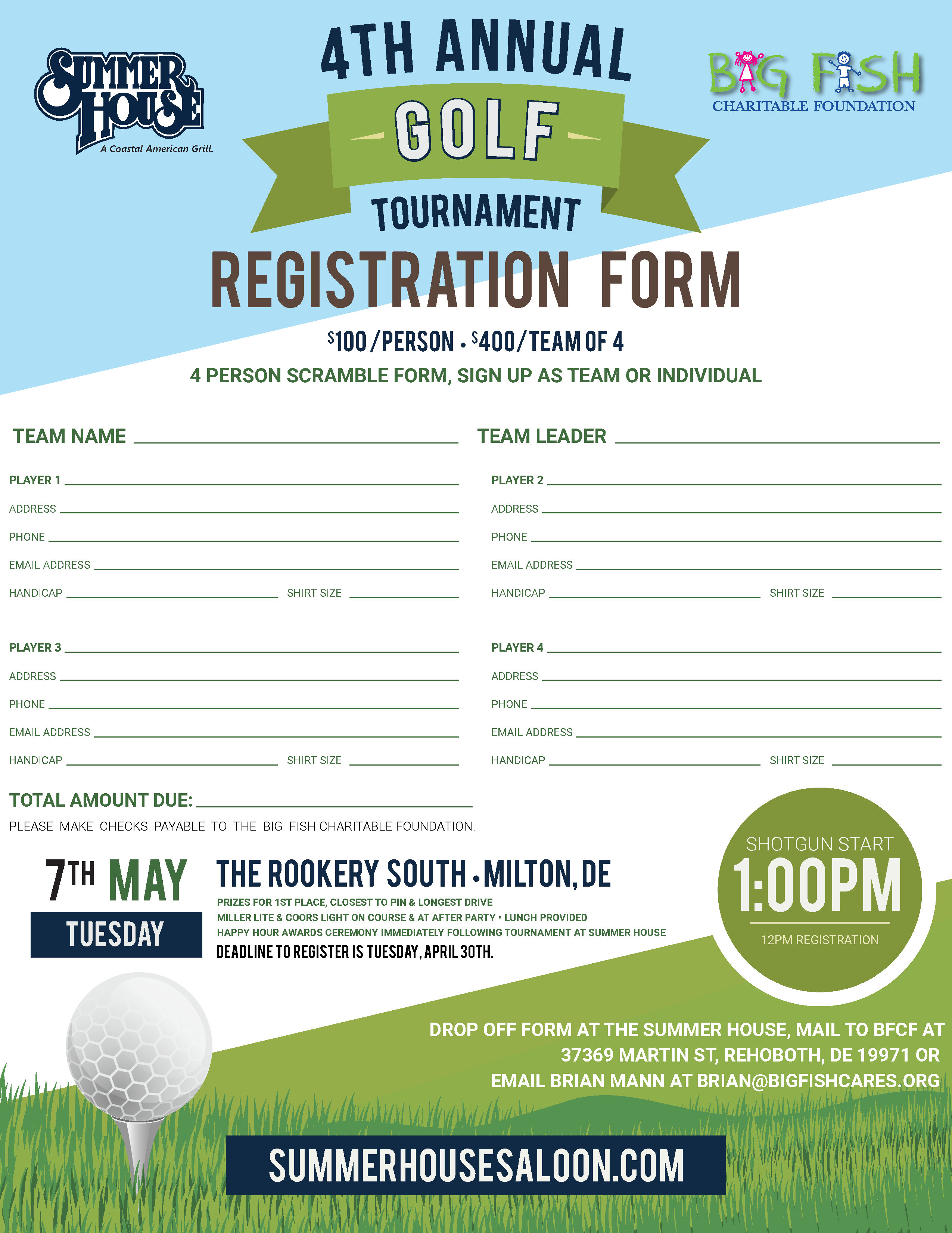 Summer House Charity Golf Tournament - Rehoboth Beach Resort Area