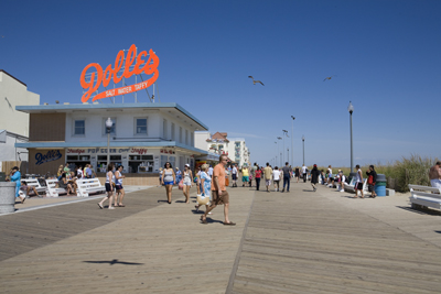 Rehoboth Beach Boardwalk.  Photo Credit: www.CarolynWatson.com