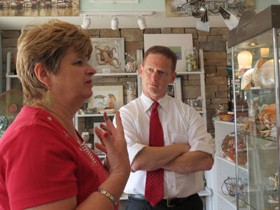 Lt. Governor Denn Visits Rehoboth Businesses